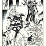 "Tribute to Jack Kirby's Thor by Belgian artist Mauricet. Published in ""Kirby&Me"" artbook."