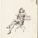 Gil Elvgreen : I'm Never Promoted, But I Get Lots of Advances, preliminary sketch, 1946