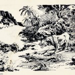 Roy G. Krenkel : Savage Land (undated)